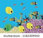 great reef australia | Shutterstock .eps vector #1182309043