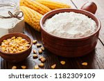 starch and corn cob on the table   Shutterstock . vector #1182309109