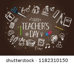happy teachers day concept   Shutterstock .eps vector #1182310150