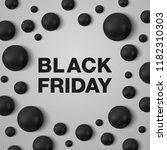 black friday banner template.... | Shutterstock .eps vector #1182310303