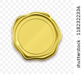 gold stamp wax seal approval... | Shutterstock .eps vector #1182322336