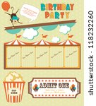 circus card design. vector... | Shutterstock .eps vector #118232260