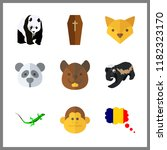 forest icon. fox and badger... | Shutterstock .eps vector #1182323170