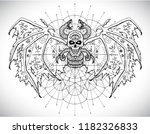 demon with mystic sacred... | Shutterstock .eps vector #1182326833