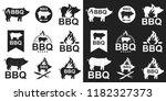 barbecue logo  stamp  emblem... | Shutterstock .eps vector #1182327373