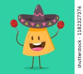 cute nachos character in... | Shutterstock .eps vector #1182327376