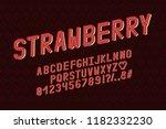 alphabet retro design.... | Shutterstock .eps vector #1182332230