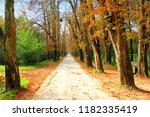 beautiful park scene  | Shutterstock . vector #1182335419