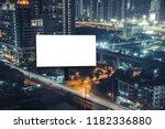 billboard night or billboard... | Shutterstock . vector #1182336880