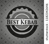 best kebab dark icon or emblem | Shutterstock .eps vector #1182342646