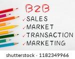 b2b concept on white background ... | Shutterstock . vector #1182349966