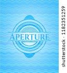 aperture water style badge. | Shutterstock .eps vector #1182351259