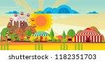 vector amusement park lansdcape ... | Shutterstock .eps vector #1182351703