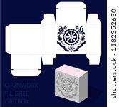 openwork laser cut template... | Shutterstock .eps vector #1182352630
