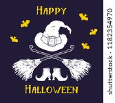 halloween greeting card.... | Shutterstock .eps vector #1182354970