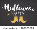 halloween greeting card.... | Shutterstock .eps vector #1182355009