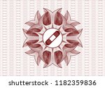 red money style rosette with... | Shutterstock .eps vector #1182359836