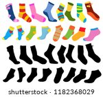 isolated  set of multi colored... | Shutterstock .eps vector #1182368029