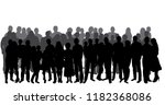 isolated  set silhouette of a... | Shutterstock .eps vector #1182368086