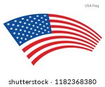 american waving flag vector usa ... | Shutterstock .eps vector #1182368380