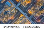 aerial top view oil and gas... | Shutterstock . vector #1182370309