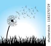 dandelion flower  background... | Shutterstock .eps vector #1182370729