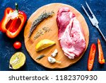 concept cooking meat steak on... | Shutterstock . vector #1182370930
