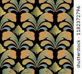 embroidery baroque vector... | Shutterstock .eps vector #1182372796
