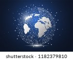 global network connection.... | Shutterstock .eps vector #1182379810