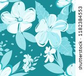 abstract flower seamless... | Shutterstock .eps vector #1182384553