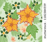 abstract flower seamless... | Shutterstock .eps vector #1182384559