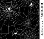 vector white pattern of cobweb... | Shutterstock .eps vector #1182385000