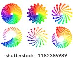 color wheel palette or color... | Shutterstock .eps vector #1182386989
