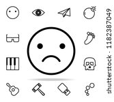 emotionally upset icon. web... | Shutterstock .eps vector #1182387049