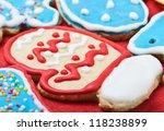 homemade christmas cookies...   Shutterstock . vector #118238899