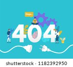 404 page niot found vector...