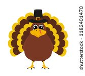 turkey pilgrimin on... | Shutterstock .eps vector #1182401470