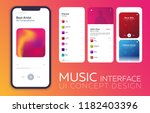 mobile ui design concept. music ...