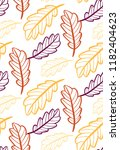 autumn leaves floral template   ... | Shutterstock .eps vector #1182404623