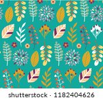 autumn leaves floral template   ... | Shutterstock .eps vector #1182404626
