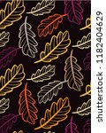 autumn leaves floral template   ... | Shutterstock .eps vector #1182404629