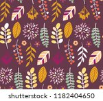 autumn leaves floral template   ... | Shutterstock .eps vector #1182404650