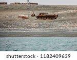 abandoned transport  equipment... | Shutterstock . vector #1182409639