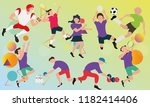 sports that play with the ball... | Shutterstock .eps vector #1182414406