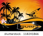 surf background | Shutterstock .eps vector #118241866