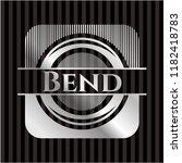bend silvery emblem   Shutterstock .eps vector #1182418783