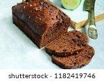 homemade chocolate zucchini... | Shutterstock . vector #1182419746