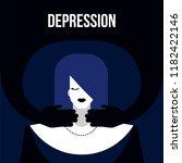 modern flat depression mental... | Shutterstock .eps vector #1182422146