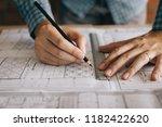 interior designer or architect... | Shutterstock . vector #1182422620