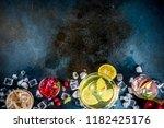 various autumn winter seasonal... | Shutterstock . vector #1182425176